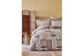 Постельное белье Karaca Home ранфорс - Maryam bordo 2020-1 бордовый полуторное