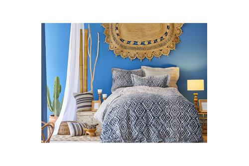 Постельное белье Karaca Home сатин - Nitara mavi 2020-1 голубой евро