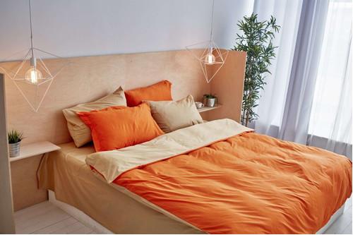 Постельный комплект Orange, сатин 100% хлопок, размер евро