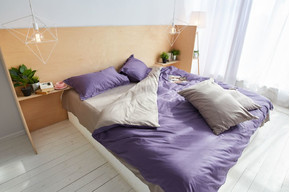 Постельный комплект Violet, сатин 100% хлопок, размер семейный