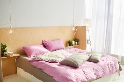 Постельный комплект Sakura, сатин 100% хлопок, размер евро