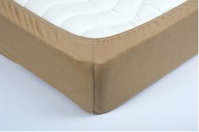 Простынь на резинке трикотажная Lotus - Бежевая 160*200+25 см