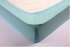 Простынь на резинке трикотажная Lotus - Ментол 160*200+25 см