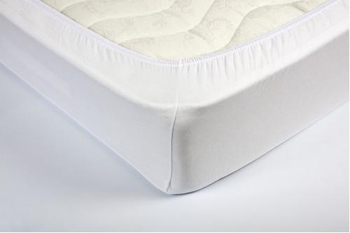 Простынь на резинке трикотажная Lotus - Белая 160*200+25 см