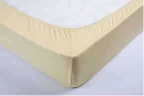 Простынь на резинке трикотажная Lotus - Желтая 160*200+25 см