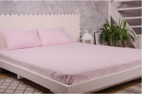 Простынь фланелевая на резинке с наволочками Point-Art - розовый 160*200 + 50*70(2)
