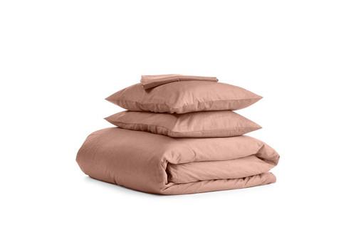 Комплект двуспального постельного белья сатин BEIGE