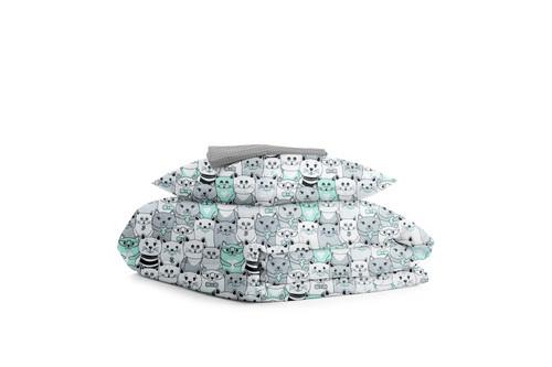 Комплект детского постельного белья CATS /серая в горошек/