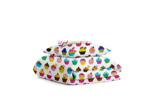 Комплект детского постельного белья CAKES /зигзаг цветной/
