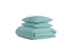 Комплект двуспального постельного белья DROP MINT WHITE