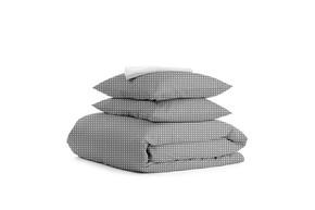 Комплект двуспального постельного белья DROP GREY WHITE