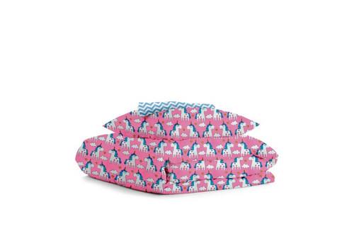 Комплект детского постельного белья UNICORN ROSE /зигзаг голубой/