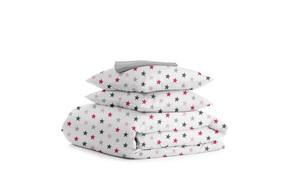 Комплект двуспального постельного белья STAR ROSE GREY DROP