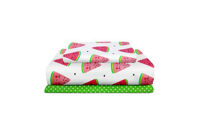 Комплект детского постельного белья MELON /горох на зеленом/