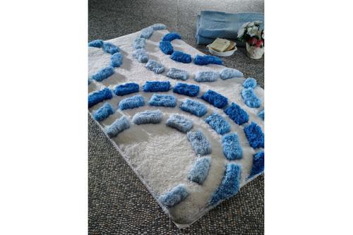 Коврик для ванной Confetti - Arinna pastel mavi голубой 60*100