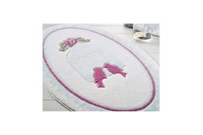 Коврик для ванной Confetti - Bird Cage голубой 66*107 овал