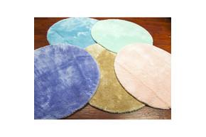Коврик для ванной Confetti - Miami pastel mavi голубой O 100 см