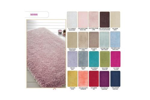 Коврик для ванной Confetti - Miami pudra pembe розовый 57*100