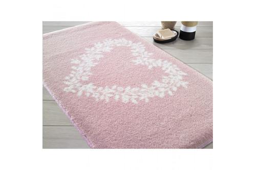 Коврик для ванной Confetti - Spring heart pink розовый 57*100