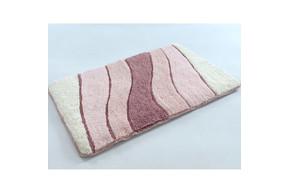 Коврик в ванную Irya - Wave розовый 70*120
