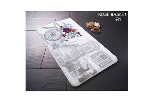 Набор ковриков для ванной Confetti - Rose basket 01 серый 57*100+50*57