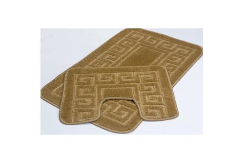 Набор ковриков для ванной Flora - PS 2519 d.beige 50*80+40*50