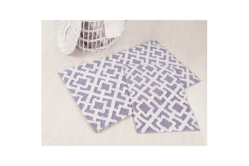 Набор ковриков для ванной Irya - Finley лиловый - 60*100+45*60