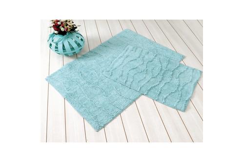 Набор ковриков для ванной Irya - Jasmine ментоловый - 60*100+45*60