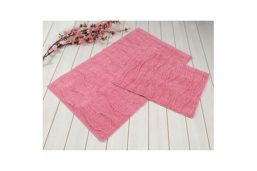 Набор ковриков для ванной Irya - Jasmine розовый - 60*100+45*60