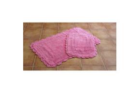 Набор ковриков для ванной Irya - Sahra розовый - 60*100+45*60