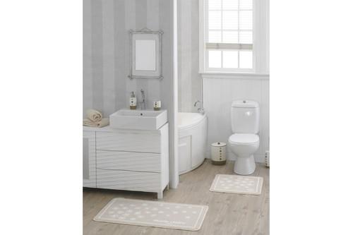 Набор ковриков для ванной Marie Claire - Brezze bej  (57*57+57*100)