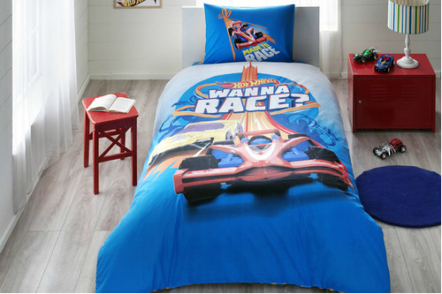 Постельное белье Tac Disney - Hot Wheels Race подростковое